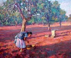 cuadro-chico-prats-ibiza-mujer-trabajando-en-el-campo
