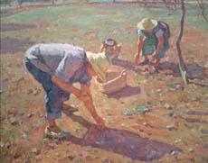 cuadro-chico-prats-ibiza-payeses-trabajando-en-el-campo