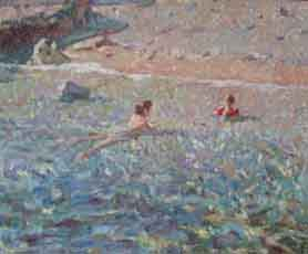 cuadro-chico-prats-mujer-nadando
