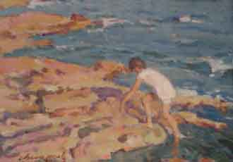 cuadro-chico-prats-nino-en-el-mar