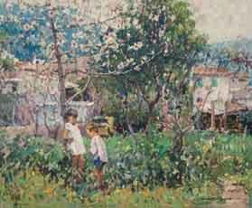 cuadro-chico-prats-primavera-a-mallorca